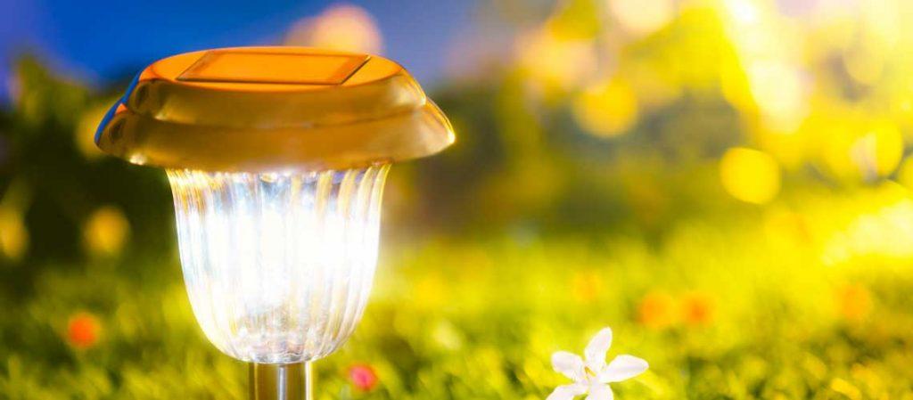 Solarlampen für den Garten