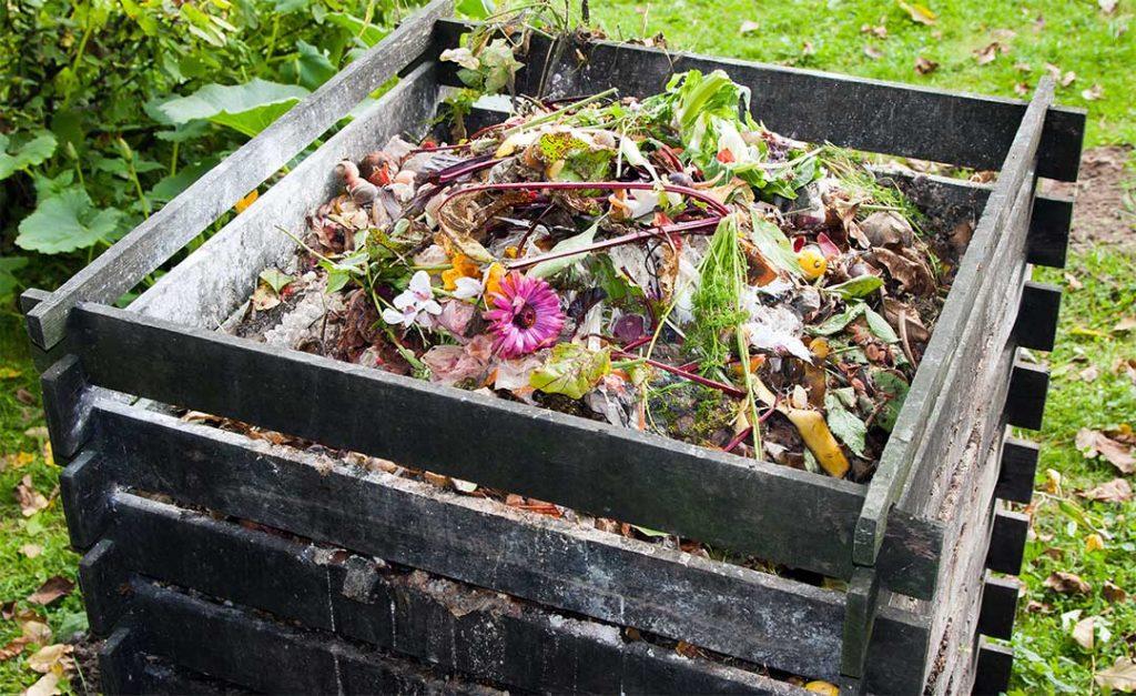 Klassischer Komposthaufen